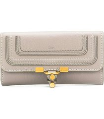 chloé marcie fold-over wallet - grey