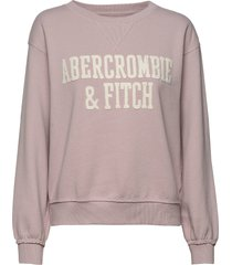 heritage relaxed crew sweat-shirt tröja abercrombie & fitch