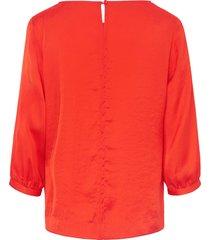blouse met wijde 3/4-mouwen van peter hahn oranje
