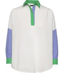 ceises colblock rhods popov sh långärmad skjorta vit french connection