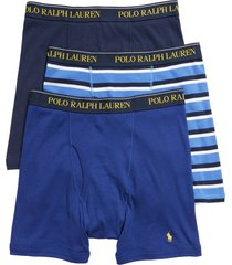 men's polo ralph lauren assorted 3-pack cotton boxer briefs