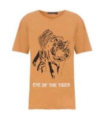 t-shirt silk tiger - marrom