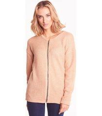 morelowy sweter z suwakiem luna