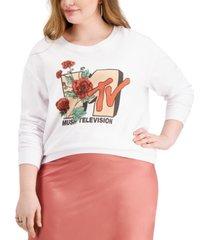 love tribe trendy plus size mtv graphic-print sweatshirt