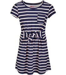 epic threads big girls tie-front striped dress, created for macy's