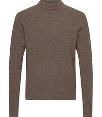 m. yak r-neck sweater gebreide trui met ronde kraag bruin filippa k