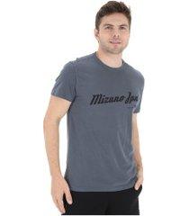 camiseta mizuno naram - masculina - azul/preto