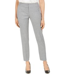 kasper carly textured straight-leg dress pants