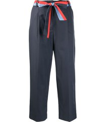 chinti and parker formal cropped trousers - blue