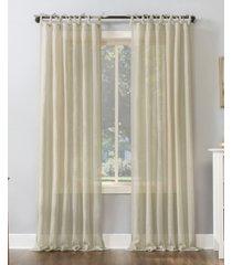 "no. 918 bethany slub textured sheer tie top curtain panel, 50"" x 84"""