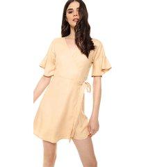 vestido camel vespertine