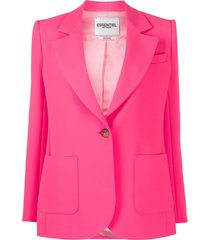 essentiel antwerp vactive single-breasted blazer - pink