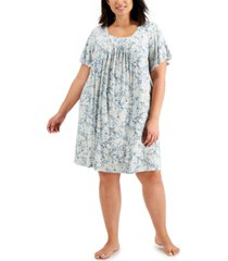 charter club plus size pleated front nightgown, created for macy's