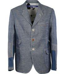 junya watanabe exposed stitching multi-pocket jacket