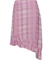 2nd audrey printed knälång kjol rosa 2ndday