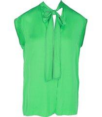 sandro women's self-tie sleeveless top - apple green - size 1 (s)