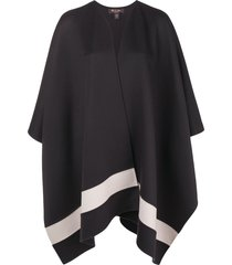 loro piana oversized poncho - black