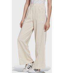 pantalón adidas originals track pants crudo - calce holgado