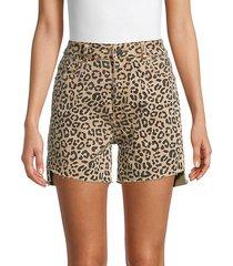 hepburn leopard-print shorts