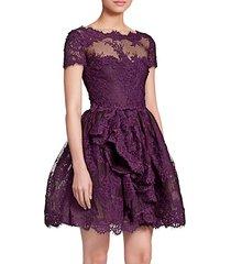 lace & mesh cocktail dress