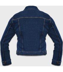 kurtka jeansowa damska granatowa (bez nadruku)