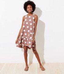 loft petite polka dot tie back swing dress