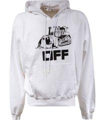 off-white world caterpillar over hoodie