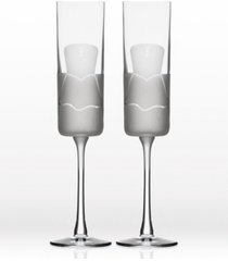 rolf glass wedding cheers series 2 (dress/dress) flute 5.75oz - gift box set of 2