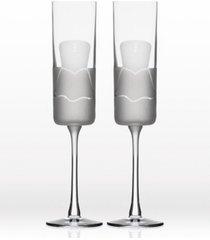 rolf glass wedding cheers series 2 (dress/dress) flute 5.75oz - gift box set of 2