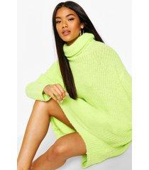 oversized rib knit boyfriend sweater dress, lime