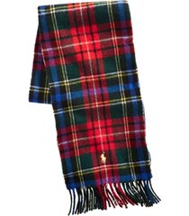 polo ralph lauren men's scottish tartans scarf