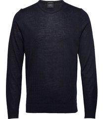 11 k-martin-r 10004217 gebreide trui met ronde kraag blauw strellson