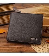 portafoglio vintage trifold per portafogli in pelle di vacchetta da 10 tasche con porta carte di credito originale per uomo