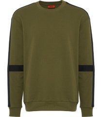 hugo dark green dunter sweatshirt 50388874-308