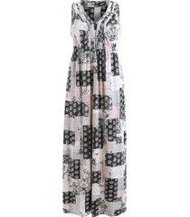 bohemian patchwork print dress