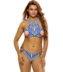 cali chic juniors' swimsuit celebrity luxury peacock print sporty tankini