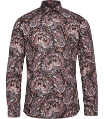 bold paisley print shirt skjorta casual blå eton