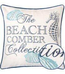 homey cozy beach square decorative throw pillow