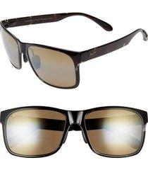 maui jim red sands 59mm polarized sunglasses in black grey tortoise at nordstrom