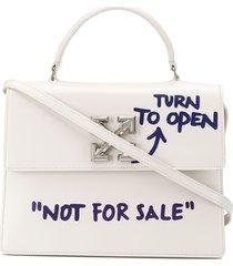 off-white quote-print jitney 2.8 crossbody bag - neutrals