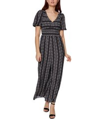 betsey johnson striped floral jumpsuit