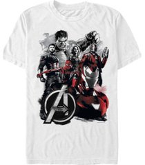 marvel men's avengers infinity war painted group shot logo short sleeve t-shirt