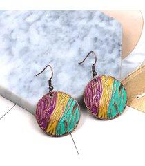 orecchino rotondo della boemia goccia colorata orecchini geometrici vintage regalo per le donne