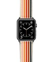 casetify retro saffiano faux leather apple watch strap