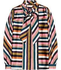 multi colour striped blouse