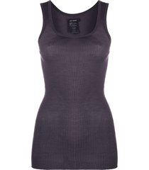 isabel marant scoop neck silk vest top - grey