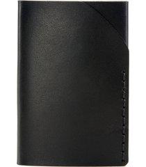 ezra arthur no. 2 leather card case in jet black at nordstrom
