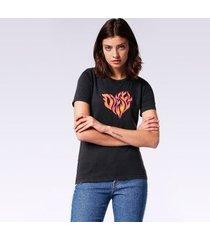 camiseta diesel t-sily-h   feminina preto