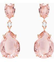 orecchini a goccia a buco vintage, rosa, placcato oro rosa