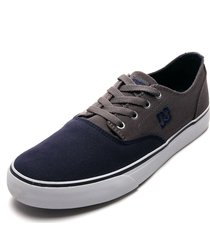 tenis skateboarding azul-gris dc shoes flash 2 tx mx